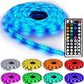 NINETEC Flash30 5m RGB LED Strip Leiste mit 30LED/m und 44 Key Fernbedienung Streifen SMD Band Lichter Licht Leuchte Lichterkette IP65 von NINETEC