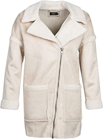 Only Onlfelicity Bonded Sherpa Coat Otw Giubbotto Donna