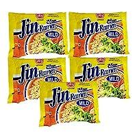 Ottogi Jin Ramen Mild Noodles, 120g (Pack of 5)