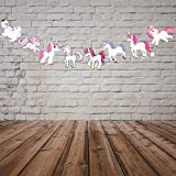 PARTY PROPZ UNICORN CHARACTER BUNTING 8FT/ UNICORN PARTY SUPPLIES/ UNICORN PARTY DECORATION