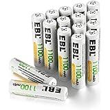 EBL AAA oplaadbare batterijen 1100mAh 16 stuks Ni-Mh batterij, hoge capaciteit en lange levensduur