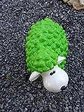 Tourwell Vertrieb Supersüße Dekofiguren Gartenfiguren bunte Schafe in knalligen oder pastell farben aus hochwertigem wetterfestem Resin - handgefertigte und handbemalte Markenqualität (Grün)