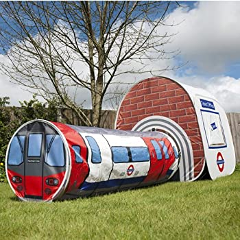 London Underground Tube Station Tent for Kids, Pop Up Play Tent Fun Children's Den House