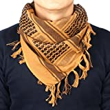 Ges tattico stile militare Desert collo fascia sciarpa militare Desert foulard kefiah, Brown