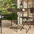 Tisch 70cm Schwarz/braun023357c