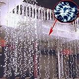 E-Plaza 4M x 3M 400 LED Drinnen Draußen LED Vorhang-Licht für Party Weihnachten Hotel Festival-Vorhang-Licht mit 8 Steuerbare Modes IP44 bewertet - weiß