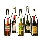 Iron Hanging Wine Rack Creative Wine Bottle Shape Wall-mounted Wine Rack Wine Rack Is Very Suitable For Bars, Wine...