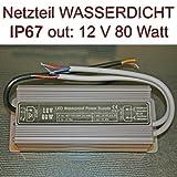 Einbau Netzteil Trafo wasserdicht IP67 12V 6,67A 80 Watt
