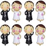 Sqxaldm Palloncini Gonfiabili a Forma di Sposo e Sposa Palloncini in Alluminio da Sposa e Sposi Palloncini da Matrimonio per