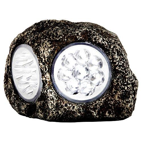 Globo IP44LED Kunststoff dunkelgrau Solar Outdoor Rock Lampe -