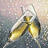 40 Cocktailservietten Cheers (Cheers)1/4 gefalzt, 3-lagig Größe offen: 25x25 Jahreswechsel Neujahr Silvester Wedding