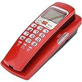 VBESTLIFE Festnetz Telefon, Kabel Telefon Standard FSK/DTMF Telefon Erweiterung Telefon für zu Hause(Rot)
