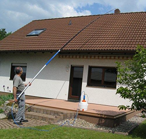 RBS Teleskoplanze T11, Komplettset, Dachreinigung, Fassadenreinigung, Moosentferner, Grünbelagentferner, Ausziehbar 3,85m - 11,00 m