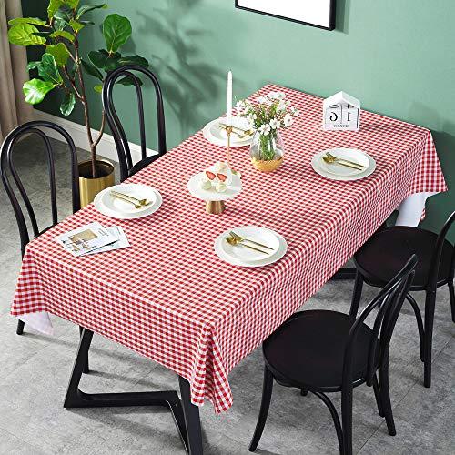 REDWPQ Resistente Al Agua Anti-Planchado De Manteles Sin Aceite De PVC 45x100cm PVC Rojo pequeña celosía