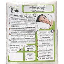 Funda antiácaros Bamboo integral para almohada - producto sanitario - Garantía de 10 años - Cubierta protectora sin tratamiento o laminación