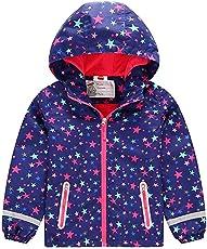 Huateng Mädchen Mantel Plus Samt Gepolsterte Wasserdichte Windjacke Kinder Outdoor Jacke Wandern Jacke warme