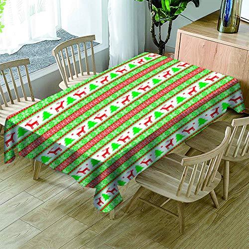 KJGUODP Tischdecke Wasserabweisend Tischwäsche Cartoon Zypressen Kitz Tischtuch für Küche Esszimmer Garten Balkon oder Hochzeit80*130cm -