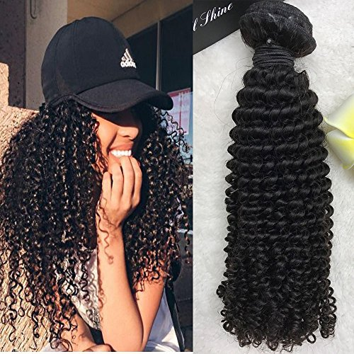 0cm 1 Bündeln Kinky Curl Brasilianisch Virgin Haare Tressen Weaving Extensions Sew in Weave Echthaar Nature Schwarz (Natur Curl-clip-in)