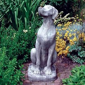 Grand Jardin Statues–female dogue allemand Sculpture de chien