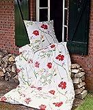 Janine Design Seersucker Ropa de cama Tango 20014–01rojo, 100 % algodón, rojo, 135 x 200 cm + 80 x 80 cm