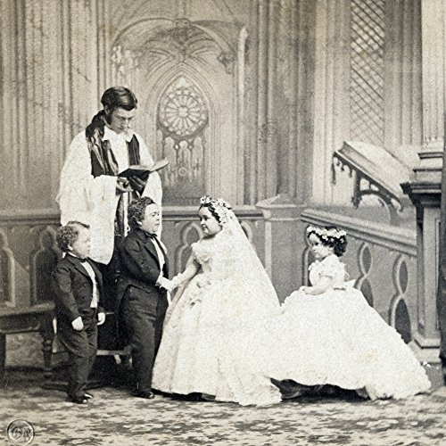 Stratton Wedding 1863. /Nthe Marriage Of Charles Sherwood Stratton (1838-1883) Known As 'General Tom Thumb' With His Wife Lavinia Warren Bumpus (1841-1919) At Grace Church In New York City 10 February 1863. Photographed By Mathew Brady. Kunstdruck (45,72 x 60,96 cm)