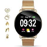 GOKOO Smartwatch Damen Fitness Tracker Pulsuhrenblutdruck Uhr mit Full-Touchscreen IP67 Wasserdicht herzfrequenz…
