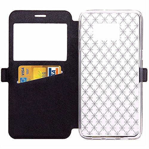 "iPhone 6 Plus / 6S Plus 5.5 Zoll Hülle,Aohro View Window PU Leder Wallet Klapphülle Flip Book Case TPU Cover,ist für Apple iPhone 6 plus/6s Plus 5.5"" Smartphone - Gold Schwarz"