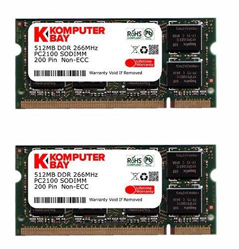 Komputerbay 1GB (512mbx 2) 200Pin 266MHz PC2100, DDR SODIMM Memory Modul -
