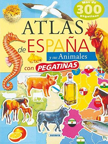 Atlas De España Y Sus Animales (Atlas De Animales Con Pegatina) por Susaeta Ediciones S A