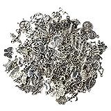 Yifanzi Charms Lot de 100 pendentifs de Style Mixte pour Loisirs créatifs, fêtes, Mariages, Accessoires tibétains pour Bijoux et Accessoires de décoration