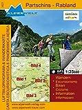 Luftbildpanorama & Wanderkarte - Partschins-Rabland
