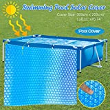 BJJH Solar Rechthoekige Zwembadafdekking Beschermer Bovengronds Blauwe Bescherming Zwembad Solar Cover Houd warmte vast (300x200cm)
