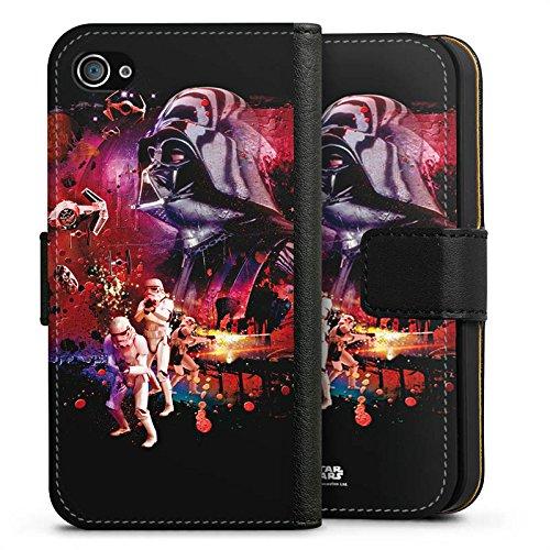 Apple iPhone X Silikon Hülle Case Schutzhülle Star Wars Merchandise Fanartikel die dunkle Seite der Macht Sideflip Tasche schwarz