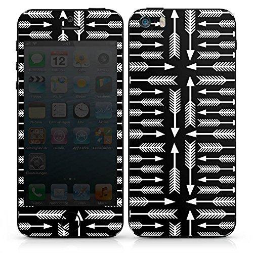 Apple iPhone SE Case Skin Sticker aus Vinyl-Folie Aufkleber Pfeile Wegweiser Schwarz DesignSkins® glänzend
