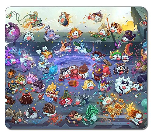League Of Legends Poro Champions rectangular goma ratón para videojuegos alfombrilla de ratón alfombrilla