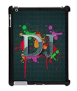 Fuson 2D Printed DJ Designer Back Case Cover for Apple iPad 3 - D652
