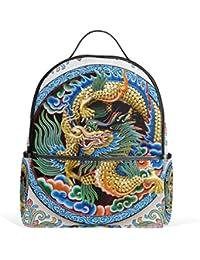 Preisvergleich für COOSUN Alte Drachen Design-Schule-Rucksäcke Bookbags für Junge Mädchen Teen Kinder Klein Mehrfarbig