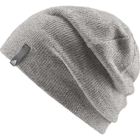 adidas Performance Bonnet Enfant Medium Grey Heather/Vista Grey/White FR: Taille Unique (Taille Fabricant: OSFY)