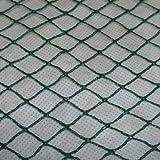 Aquagart Teichnetz, dunkelgrün, engmaschig: Maschenweite 15mm x 15mm, Laubnetz, Teichabdecknetz, Vogelabwehrnetz, Reihernetz verschiedene Größen robust (4m, 8m breit grün)
