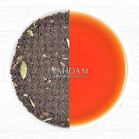 Té Saffron, Masala Chai Imperial (40 Tazas). Té Negro Assam Premium mezclado con Kashmiri Saffron, Cardamoma, Canela, Clavo y Pimienta Negra 100% Original, Receta Original India, 3.53oz