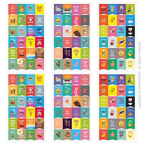 Happy Planer Aufkleber-süße Designs, Kalender Aktivität Aufkleber/Karten Fotoalben, 6Blatt
