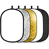 Neewer 5-in-1 Kit di Riflettore/Diffusore Ovale Portatile 150x200cm Professionale per Illuminazione con Borsone per Fotografi