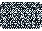 YOURDEA - Möbelsticker für IKEA Lack Tisch Beistelltisch Couchtisch mit Motiv: Kringel Schwarz inklusive Rakel