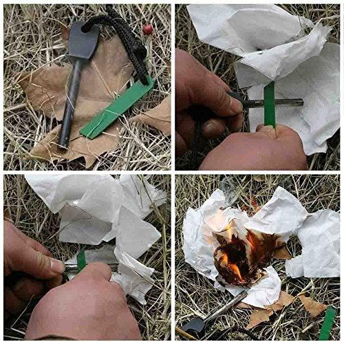 Kit allume-feu de survie avec barre de magnésium
