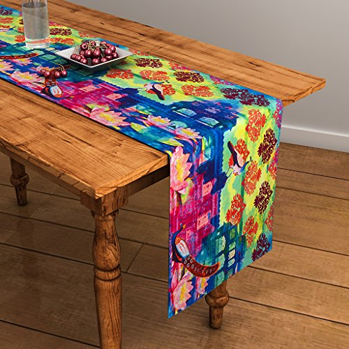 SEJ Abstract Multicolour HD Digital Premium 13 by 48 inches Table Runner