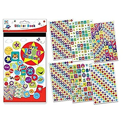 Enfants Joie D'enfants Art Et Artisanat Livre D'autocollants 1500 Stickers Ira Vacances Cadeau
