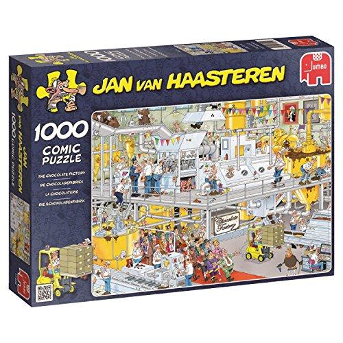 Jumbo 17452 - Jan van Haasteren - Die Schokoladenfabrik Puzzle, 1000 Teile (Van Praline)