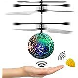RC Fliegender Ball, Geschenke für 3-12 Jahre Alt Flying Ball Hubschrauber Spielzeug für Jungen Mädchen Kinder Lila