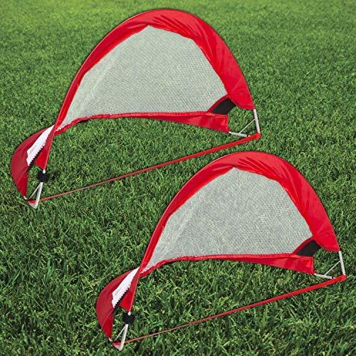 Gr8 Fitness Tragbares Fußball-Match-Tor, Pop-Up-Netz, für Kinder, zusammenklappbar, faltbar, für drinnen und draußen, Übungstor für den Garten, Strand, Spiel-Set mit Tragetasche (61 m).