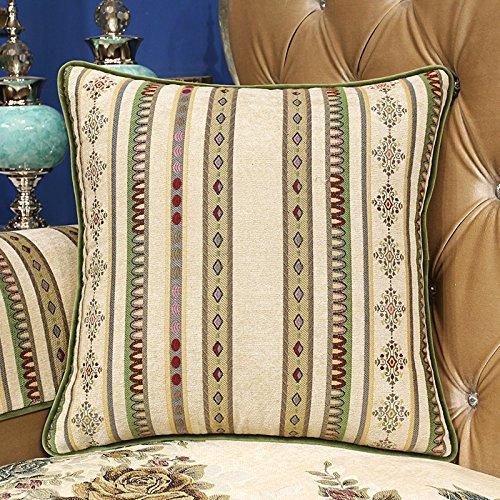 RFVBNM Continental Americana sofá cama Beige kit de cojín almohada Gran coche almohada Lumbar Chip-